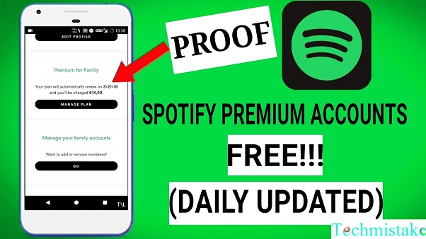 spotify premium accounts december 2018